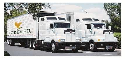 Forever Living's Owned Trucks For Product Distribution